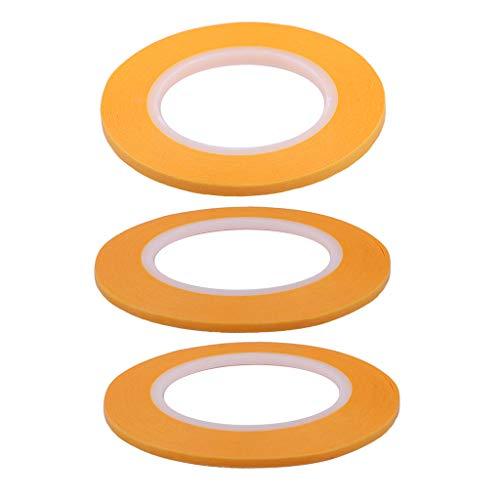 Fenteer 2mm + 3mm + 4mm Abdeckband Abdeckfolie Klebeband Folie Abdeckung Papier Band