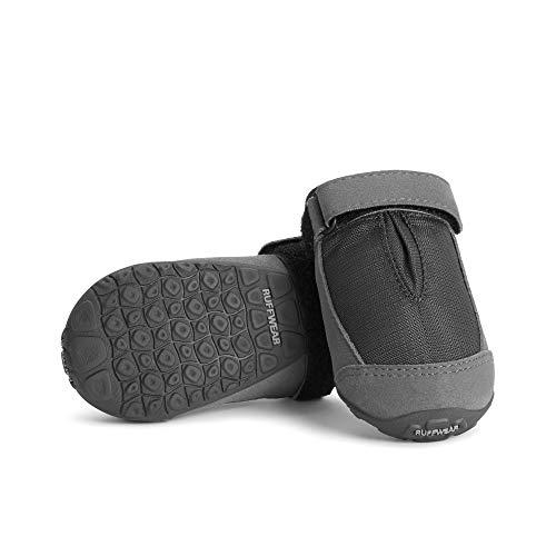 Ruffwear Hunde Schuhe zum täglichen Gebrauch (2er Set), Wetterfest, Mittelgroße Hunderassen, Größe: 64 mm, Grau (Twilight Grey), Summit Trex