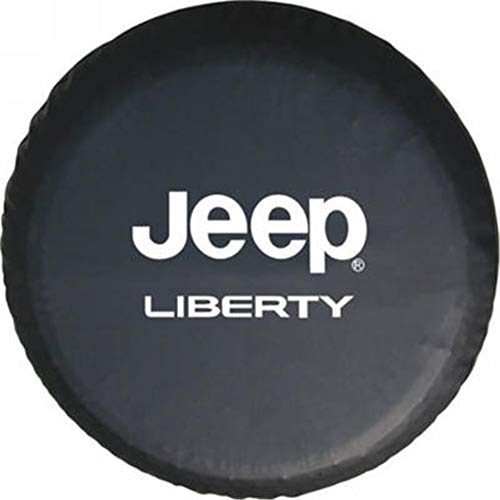 "Spare Tire Cover Pvc Leather Waterproof Dust-Proof Universal Spare Wheel Tire Cover Fit For Jeep Liberty 17""(17"" For Diameter 31""-33"")"