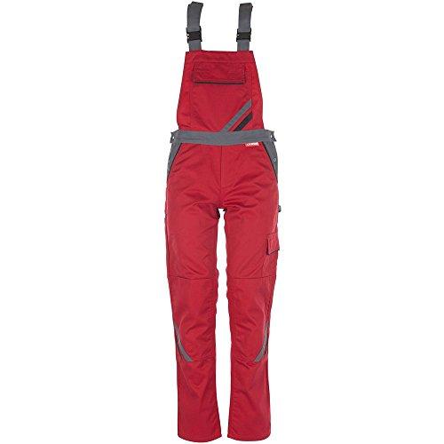 Planam Damen Latzhose Highline, größe 40, rot / schiefer / schwarz / mehrfarbig, 2392040