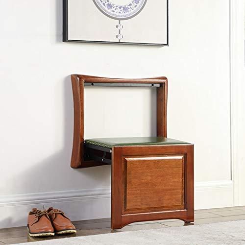 HDHXDS Change Shoe Bench Wand-Klappstühle Invisible Wall Hanging Chair Verborgener Wandhocker zum Aufhängen Doorway Household Entrance (Farbe : B, größe : 53.8 * 34.8 * 71.7cm)
