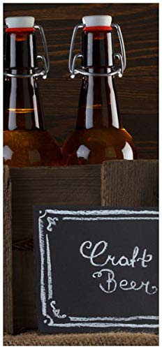 Posterdepot porta carta da parati motivo birra varianti–Pils In Vetro, bottiglie birra, scudo Craft Beer–dimensioni 93x 205cm, 1pezzo, ktt0759