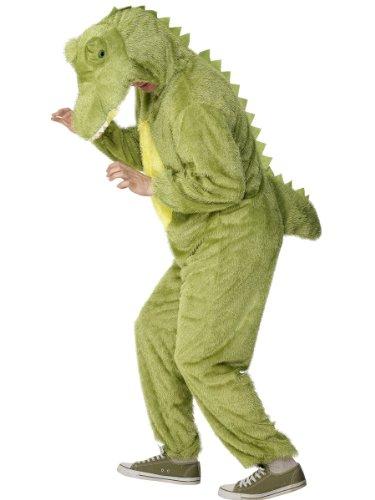Krokodil Kostüm enthält Jumpsuit mit Kapuze, Large