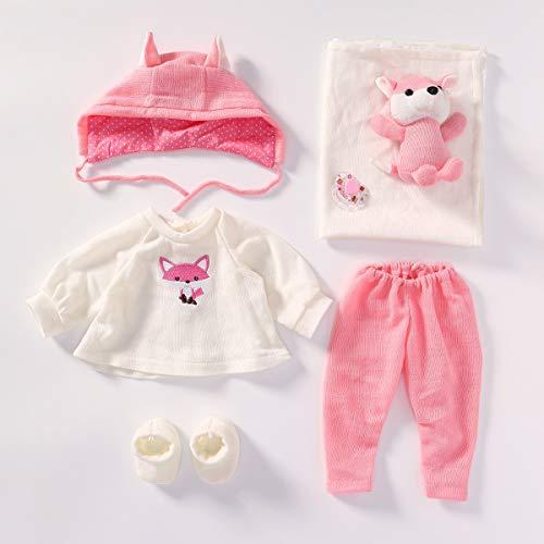 Terabithia 4 Accesorios para Ropa de muñecas Se Adapta a 20-22 Pulgadas Muñecas recién Nacidas Reborn Baby Doll Todos los Conjuntos de Ropa de algodón