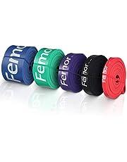 femor Resistance Bands set van 4-Full body fitness elastieken-Powerbands-Weerstandsbanden voor benen en billen-Gymnastiekband-Elastiek Fitness band-Trainingsbanden-Set voor het hele lichaam Incl. Draagtas