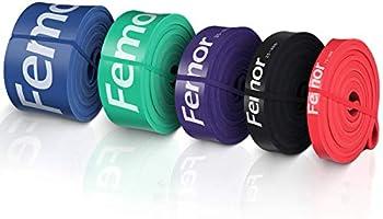 femor Resistance Bands set van 4-Full body fitness elastieken-Powerbands-Weerstandsbanden voor benen en...