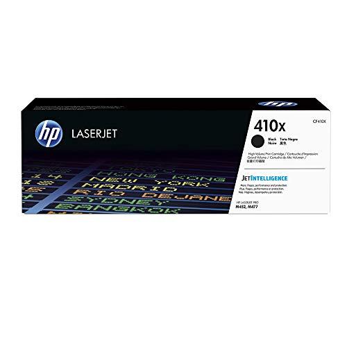 HP 410X (CF410X) Schwarz Original Toner mit hoher Reichweite für HP Color Laserjet Pro M452, HP Color Laserjet Pro M477