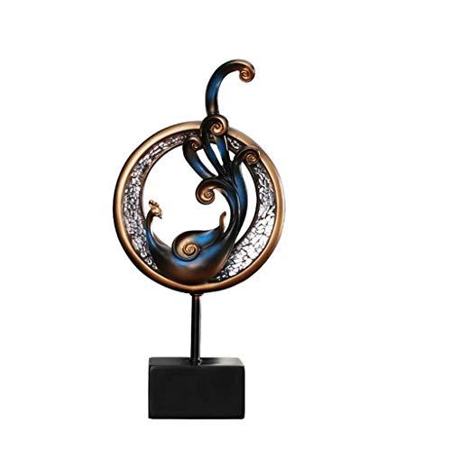 Desktop-Skulptur TV Schrank Handwerk Dekoration Phoenix Skulptur American Home Heimtextilien Wohnzimmer Seitenschrank Europäischen Dekorationen Geschenk (zwei Sätze) (Size : S)