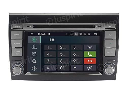 ANDROID 10 GPS DVD USB SD WI-FI Bluetooth autoradio 2 DIN navigatore Fiat Bravo 2007, 2008, 2009, 2010, 2011, 2012, 2013, 2014