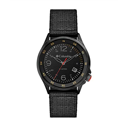 Columbia Canyon Ridge Stainless Steel Quartz Watch with Nylon Strap, Black, 10 (Model: CSC02-003)