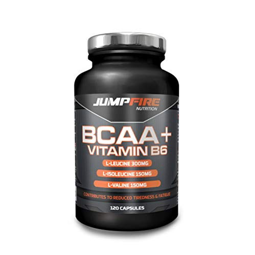 Jumpfire Nutrition BCAA Tablets + Vitamin B6, Amino Acid, Men & Women, Intra-Workout, Pre Workout, Leucine Isoleucine Valine, 2:1:1 Optimum Nutrition Ratio