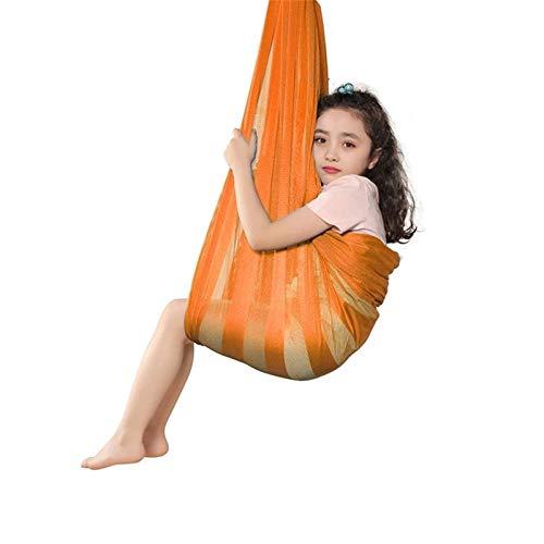 AGGF 290x160cm Juego de Columpios para niños Terapia Columpio sensorial Hamaca Silla Colgante Sala de casa Juegos de Interior Juguetes de hasta 200 Libras para niños con Autismo (Color: Amarillo,