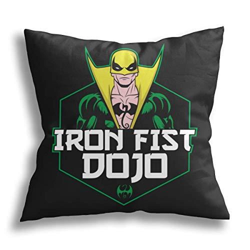 Iron Fist Dojo-Sofá Ropa de Cama Decoración para el hogar y el Coche Fundas de cojín cuadradas de poliéster 45x45 cm