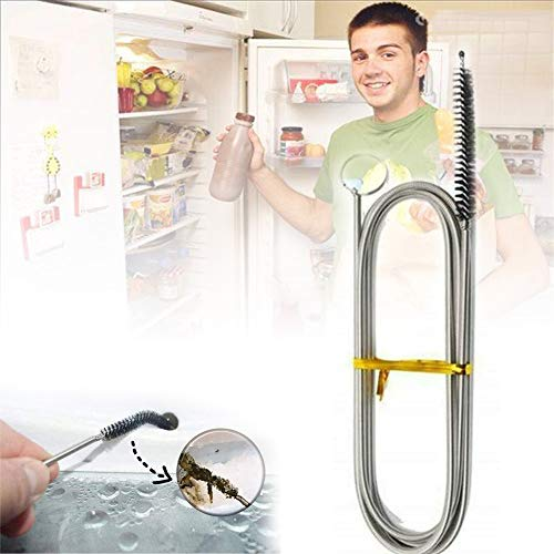 Langer Flexibler Kühlschrank Bürste Flexible Ablauf Pinsel Kühlschrank Reinigungsbürste Aquarium Reinigungsbürste Rohrreinigungsbürste Für Kitchen Sink,B,1PCS