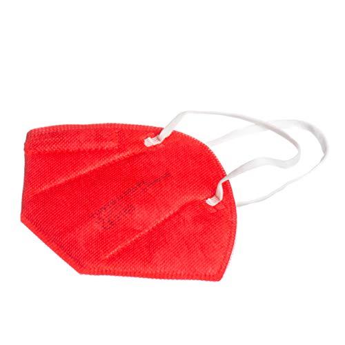 Yunyifu Máscarillas Premium FFP2 Certificación CE 5 Capas Máscara Ffp2 Filtros 95% Pack de 10 Piezas (Rojo)