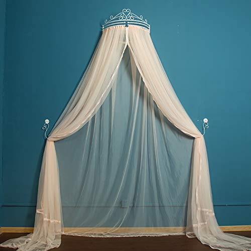 %23 OFF! Wgreat Princess Crown Bed Canopy,Yarn Mosquito Net for Bed,Keeps Away Insects Quick and Eas...