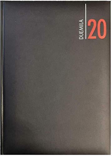 Agenda Giornaliera 2020 Nera in Similpelle Formato A4 21x30 cm Prodotto Originale
