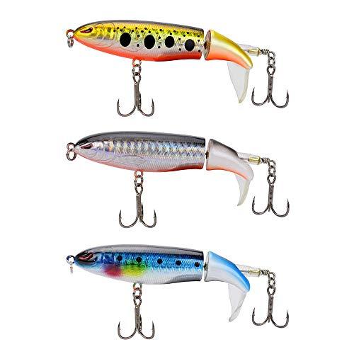 gfjfghfjfh 10 CM 13G Whopper Popper Topwater Fishing Lure 3D Occhi Plastica Esche Artificiali Duro Plopper Gancio Accessori per la Pesca