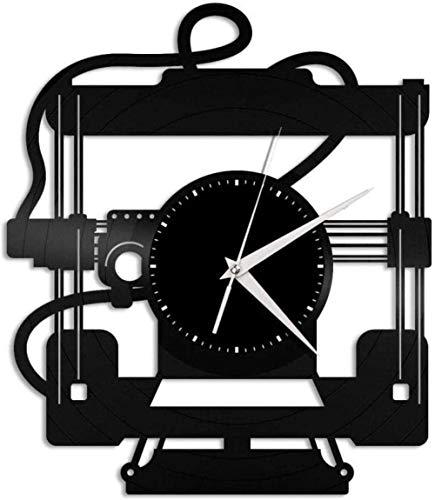 3D Printer Vinyl Wall Clock Retro Vinyl Record Wall Clock Record Home Decoration Mute Wall Clock-No LED Light