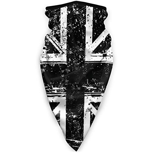 White and Black British Flag England Half Face Balaclava Breathable Bandana Seamless Sports Face Scarf Multifunctional Reusable Headwear Neck Gaiter for Women Men
