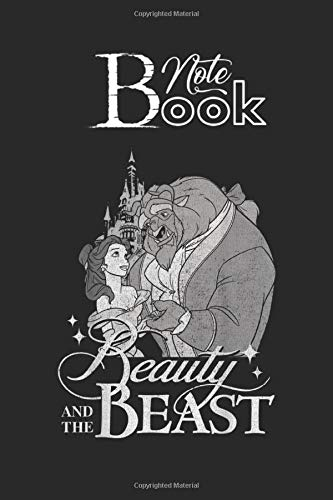 Notebook: Disney Beauty The Beast Vintage Logo Dance Graphic Designed Notebook And Diary Log Book Guided Workout for Their Interpretations Size 6x9x120 Pages with Rule Lined College White Pages