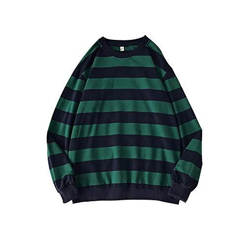 LILIZHAN Nieuwe Truien Mannen Klassieke Gestreepte Trui Man Sweatshirt Streetwear Hip Hop Regenboog Trui Mannen Kleding Casual Pullover