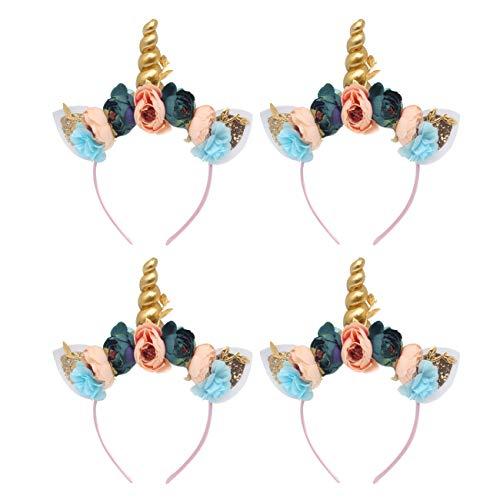 THEE 6pcs Diadema Unicornio Tocado Decorativo Accesorios de Halloween (Azúl)