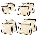 CINPIUK 8 Pack Handbag Dust Bags Purse Storage Organizer for Closet, Zipper Hanging Storage Bag for Handbags