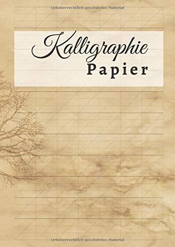 Kalligraphie Papier: DIN A4 Übungsheft | 110 Seiten | Schönschreiben Handlettering Übungspapier Schreibschrift