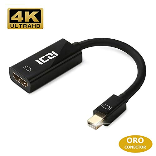ICZI Adattatore Mini DisplayPort a HDMI 4K Convertitore Thunderbolt Maschio to HDMI Femmina per MacBook PRO Air iMac/Mac Mini Surface PRO 2 3 4 ThinkPad dell 4K TV HDTV Mini DP Porta ECC