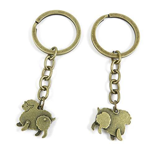 Schlüsselanhänger, antiker Bronze, 100 Stück