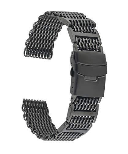 24 mm Faltschließe aus poliertem Metall, Uhrenarmband, Uhrenarmband, Uhrenarmband, Edelstahl-Uhrenarmband, 2,4 cm