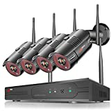[Expandable 8CH+1TB HDD] ANRAN Wireless Home Security Camera System, 1080P 8 Channel NVR Surveillance System with 4pcs 2K Indoor Outdoor WiFi Security IP Camera,Night Vision, Motion Alert,Remote View