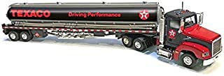 Texaco Gasoline Tanker Truck Driving Performance Black 1/43 Diecast Model by Autoworld CP7595
