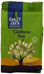 Crazy Jack Organic Cashews (100g) Pack of 2 Please be aware that unless expressly indicated otherwise, Cooking Marvellous are not the the manufacturer of this product. Product packaging may vary from what is shown on this listing. We recommend that y...