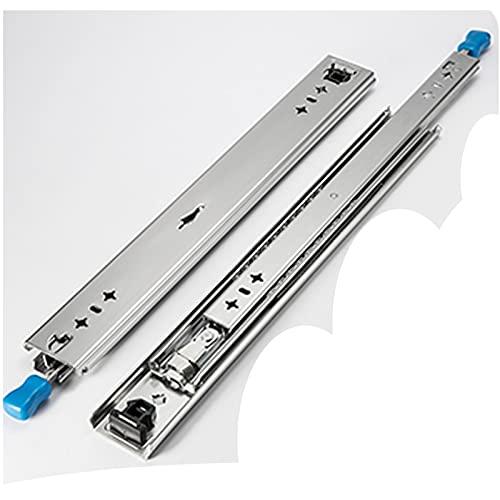 Zxwzzz Corredores de cajones de Ancho de 53 mm con Bloqueo de cojinetes de Trabajo Pesado 3 Pliegues Extensión Completa fácil de Ajustar para la reequipación RV Cajas de Horno móvil