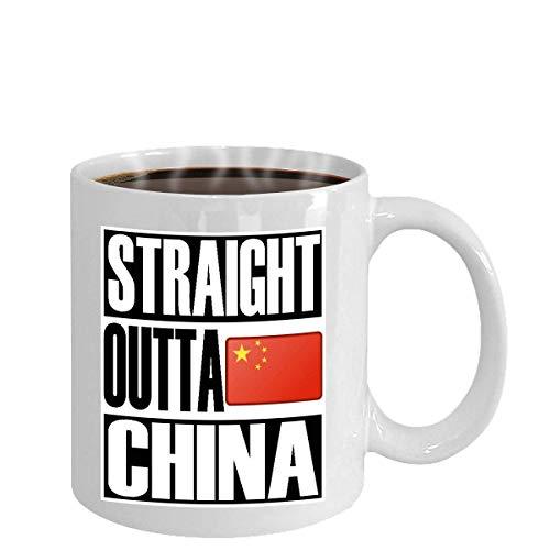 Taza Bandera de regalo divertido de Straight Outta China