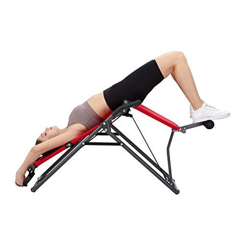 Mediashop Back Lounge | Inversions-Rücken-Trainer | Inversionsbank | Streckung der Wirbelsäule | bis zu 110 kg dynamisch, 250 kg statisch belastbar | integrierte Massagerollen | zusammenklappbar