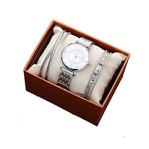 YIBOKANG 3 Piezas De Damas Simple Casual Romano Digital Digital Taladro Pulsera Set Moda Clásico Impermeable Delicado Regalo Delicado Conjunto De Reloj De Moda (Color : 5)