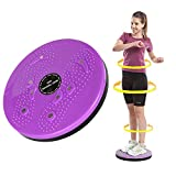 NUANNUAN Purple Waist Twister Disc Board Body Shaping Wriggling Plate Home Fitness Device Machine Rotating Torsion Disc Board Aerobic Magnet, Female Sports Equipment Aerobic Exercise Foot Massage