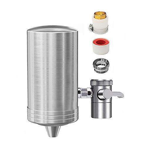 NC56 Wasserfilter Wasserhahn, Edelstahl Restliches Chlor entfernen Küchenwasserhahnfilter Für die meisten Wasserhähne mit 1 Patrone