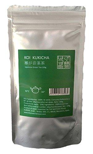 The Matcha House Koi Kukicha (KARIGANE) 100 g - Té verde japonés elaborado con tallos y hojas de Gyokuro y de Sencha de Alta Calidad con un sabor fresco y suave
