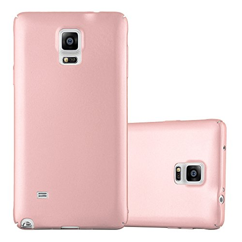 Cadorabo Hülle für Samsung Galaxy Note 4 - Hülle in Metall Rose Gold – Hardcase Handyhülle im Matt Metal Design - Schutzhülle Bumper Back Case Cover
