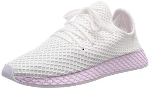 adidas Damen Deerupt W Fitnessschuhe, Weiß (Ftwbla/Ftwbla/Lilcla 000), 36 EU