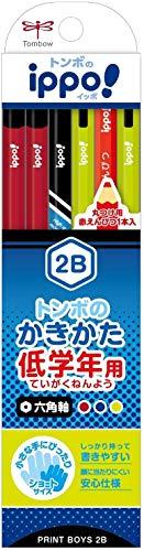 トンボ鉛筆 鉛筆 ippo! 低学年用かきかたえんぴつ 2B 六角軸 プリント Boy MP-SKRM04-2B 【× 2 個 】