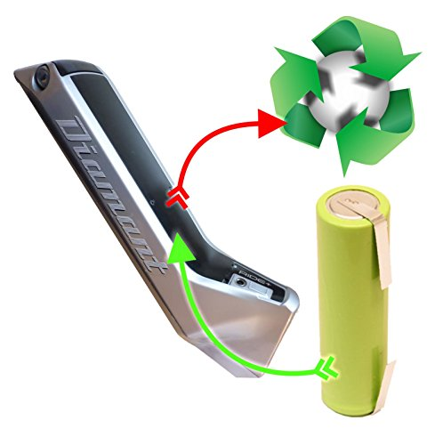 akkutauschen.de kompatibel mit BionX Diamant Zouma Ride+ 3840 3845 3846 Zellentausch für E-Bike-Akku 48 V 10,5 Ah