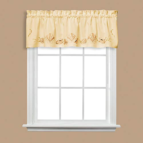 SKL Home by Saturday Knight Ltd. Seabreeze Valance, Sand, 57 inches x 13 inches