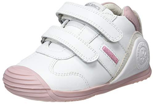 Biomecanics 151157-2, Zapatillas de Estar por casa Niñas, Blanco (Blanco Y Rosa (Sauvage) G), 21 EU