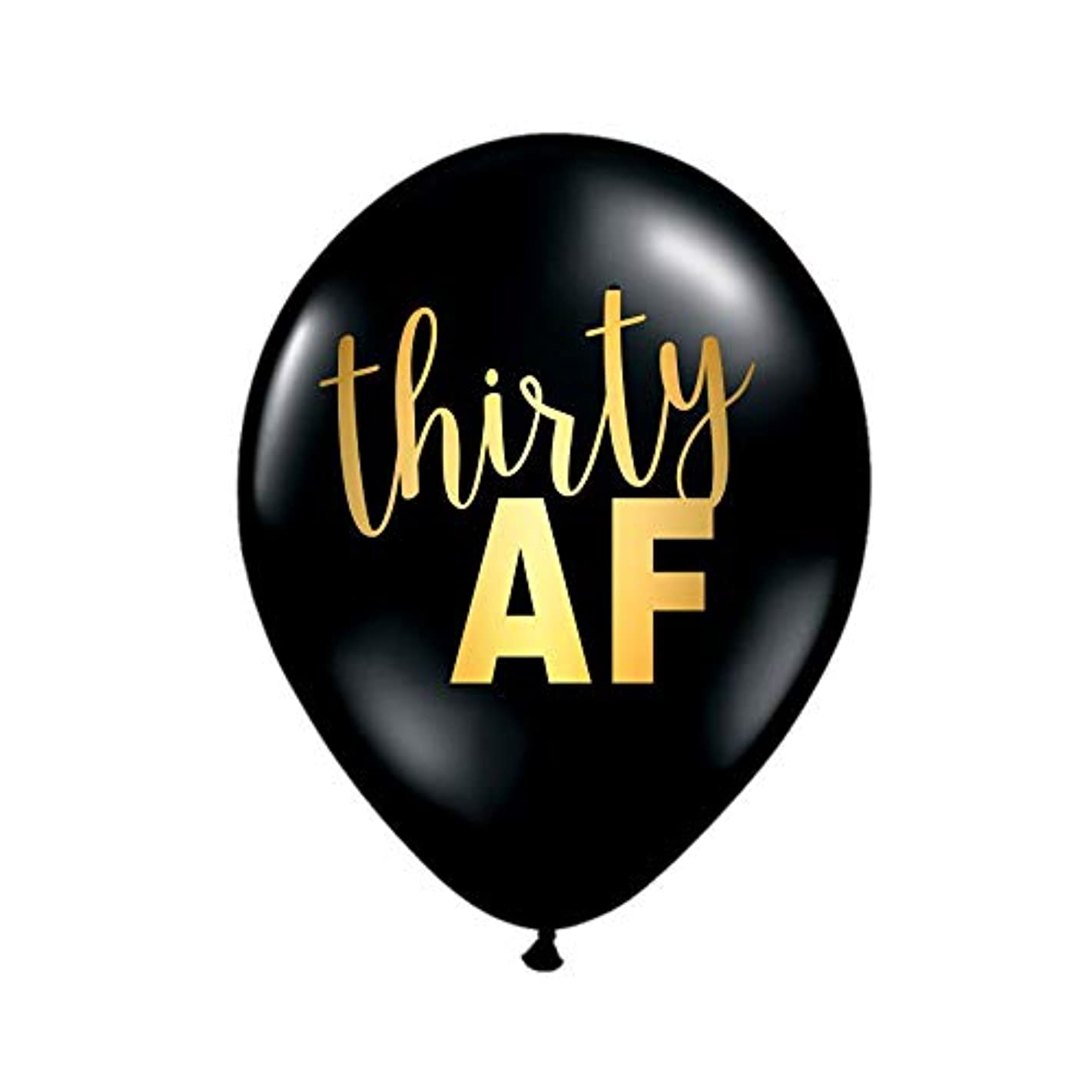 Thirty AF Balloons for a 30th Birthday Party in Black and Gold, 30th Birthday Decorations, 30th Birthday, Funny 30th Balloons, Gag Gift for 30th Birthday, 30 AF, Thirty AF, Set of 3