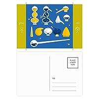 スポイトのゴムのドロッパーの化学 友人のポストカードセットサンクスカード郵送側20個